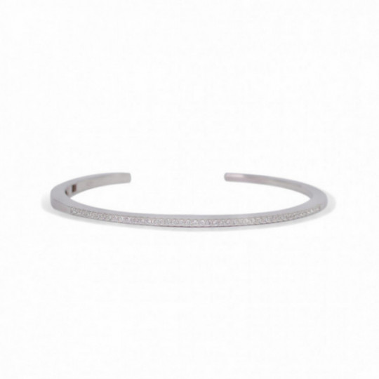 RIGID BRACELET WITH ZIRCONIA