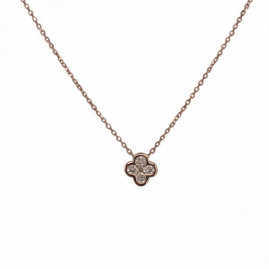DIAMOND CLOVER PENDANT