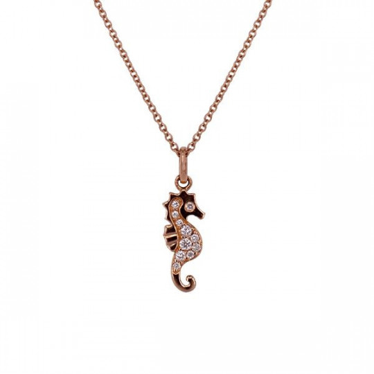 SEA HORSE PENDANT WITH DIAMONDS