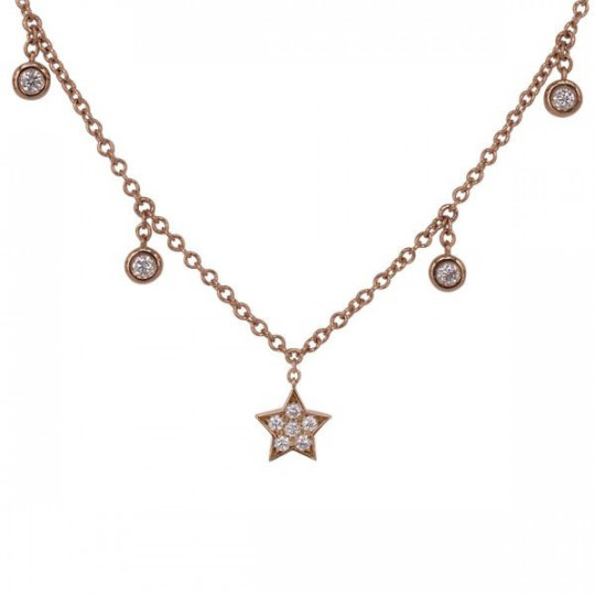 STAR PENDANT WITH DIAMOND CHATONS