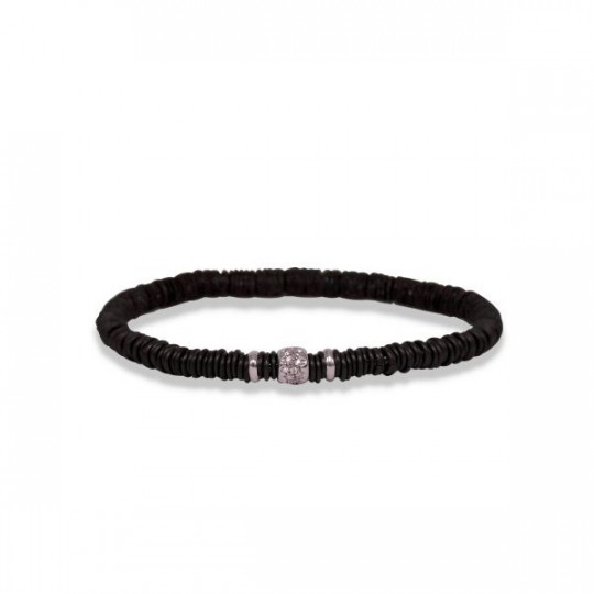 ELASTIC WHITE GOLD BRACELET WITH DIAMONDS