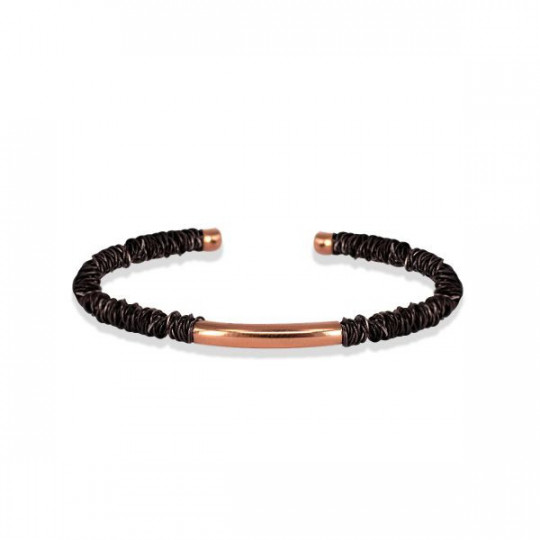 CANE BRACELET WITH BLACK GOLD WIRE