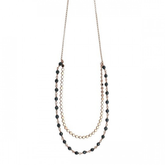 NECKLACE COLOR ME DOBLE BLACK 54087