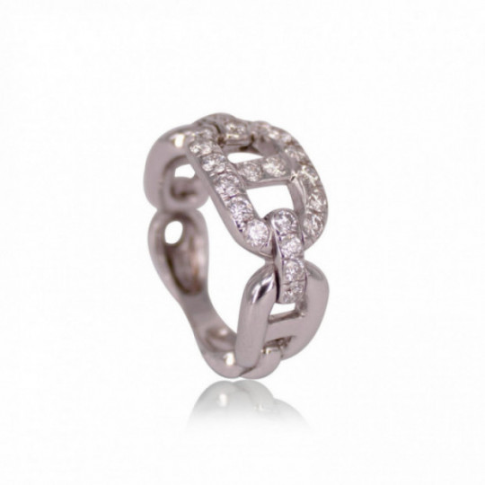 CHAIN RING WITH DIAMONDS