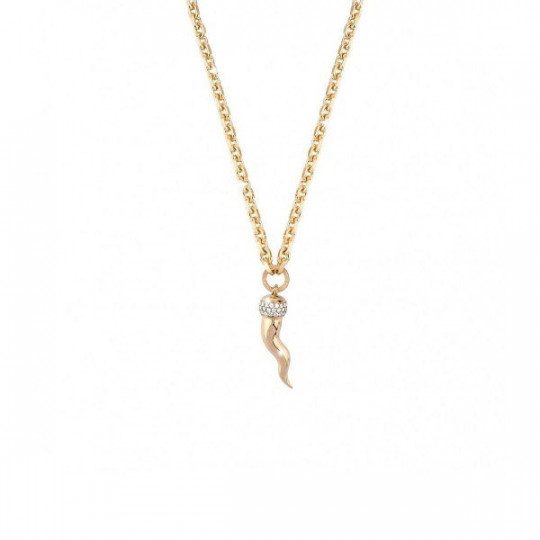 BRONZE NECKLACE WITH WHITE ZIRCONIA BL2KBO17