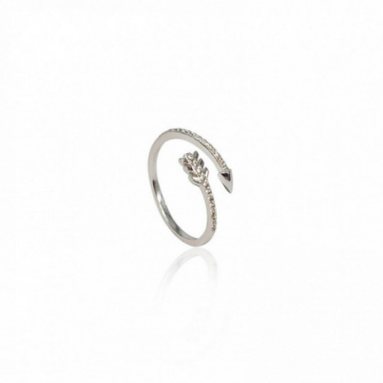 ARROW RING WITH WHITE ZIRCONIA