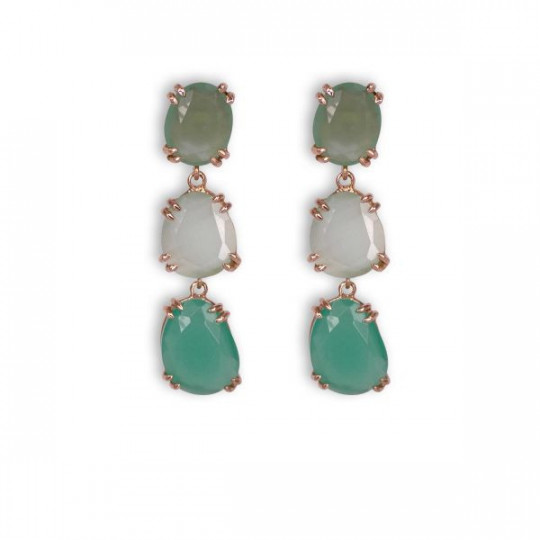 GREEN JADE LONG EARRINGS