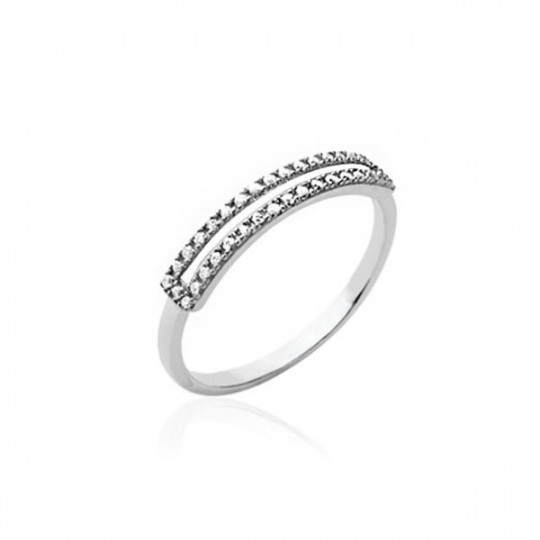 RING WITH ZIRCONIA RECTANGLE