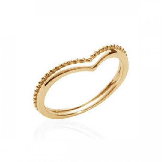 GOLD-PLATED SILVER HEART-SHAPED RING
