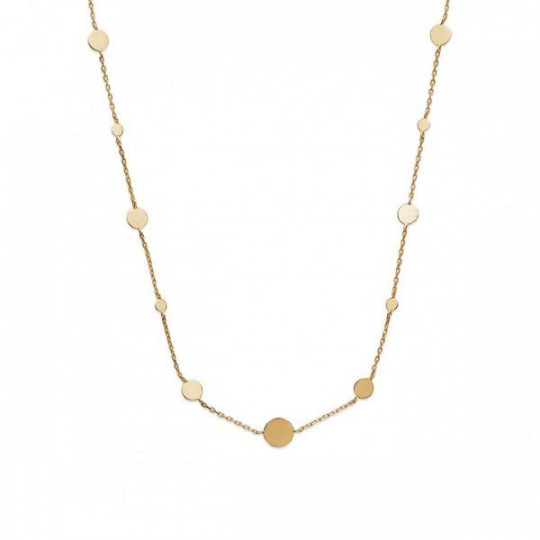 CHAIN NECKLACE WITH ROUND PLATES 92149445