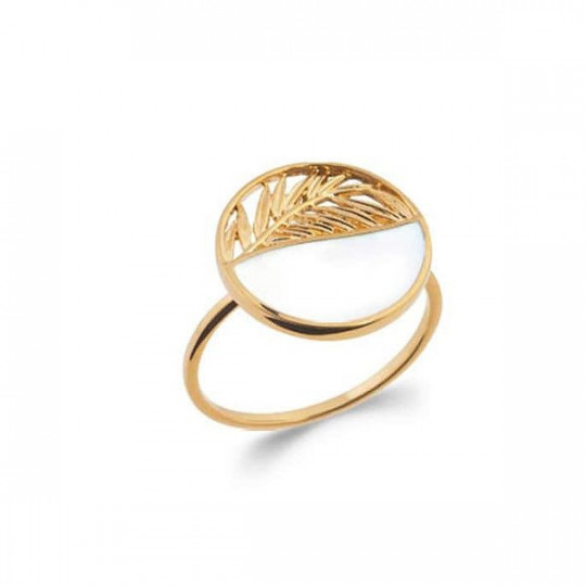 GOLDEN RING WITH MOTHER-OF-PEARL 2285504