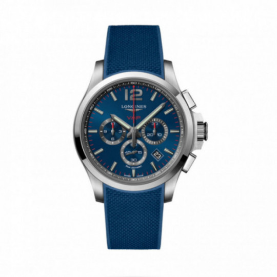 LONGINES CONQUEST V.H.P. 44MM L37274969 RUBBER BLUE