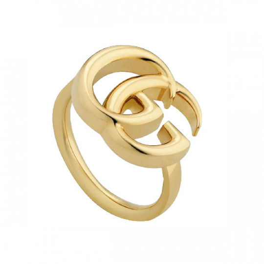 GUCCI GG RUNNING YELLOW GOLD RING 525686 J8500 8000 15