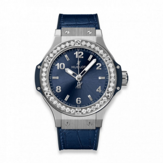 HUBLOT BIG BANG STEEL BLUE DIAMONDS 38MM H361.SX.7170.LR.1204