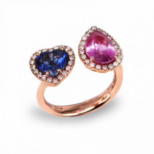 BICOLOURED STONE RING