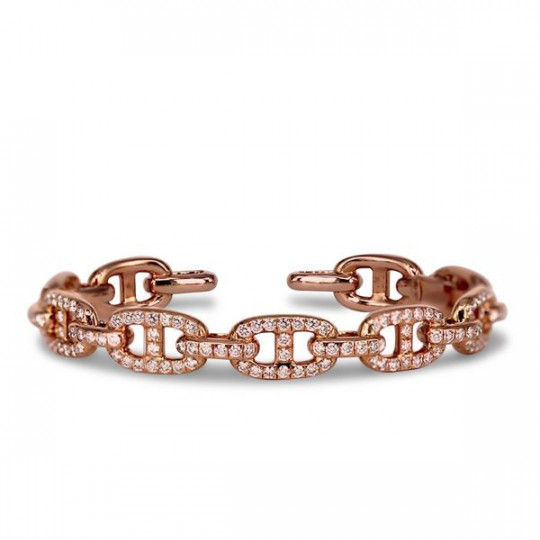 RIGID BRACELET WITH DIAMONDS