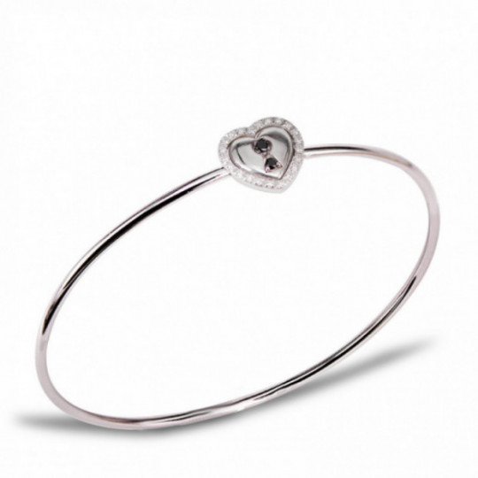 RIGID CANE BRACELET WITH HEART