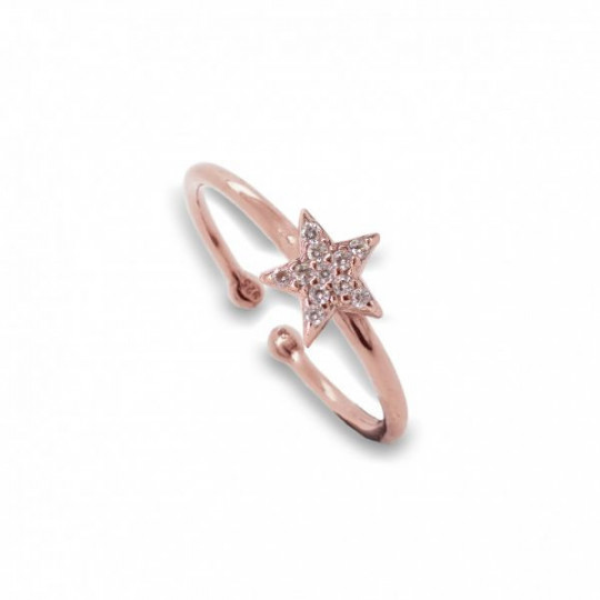 STAR RING WITH WHITE ZIRCONS