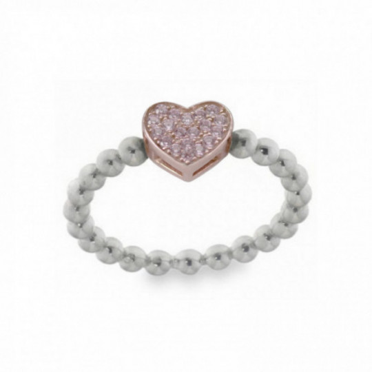 HEART RING WITH PURPLE ZIRCONS