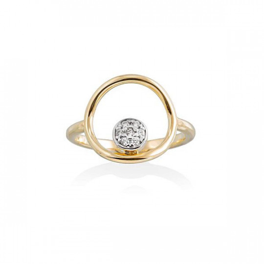 GOLD-PLATED SILVER PEARL RING MARINA GARCÍA 90357SD