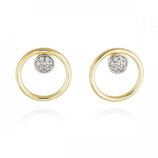 GOLD-PLATED SILVER PEARL EARRINGS MARINA GARCIA 90357PD