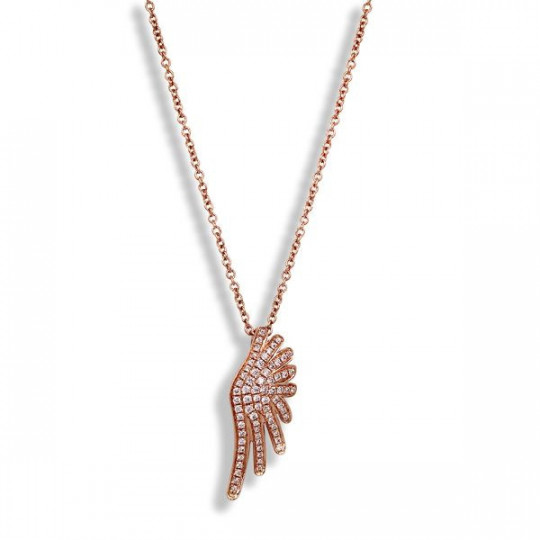 DIAMONDS WING PENDANT