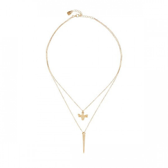 DOUBLE NECKLACE HEY HONEY 2 UNO DE 50 COL1425ORO0000U
