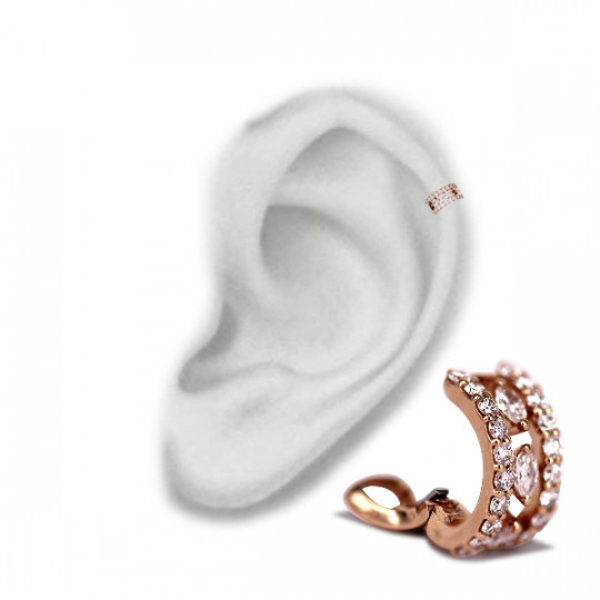 CARTILAGE EARRINGS, WITH DIAMONDS