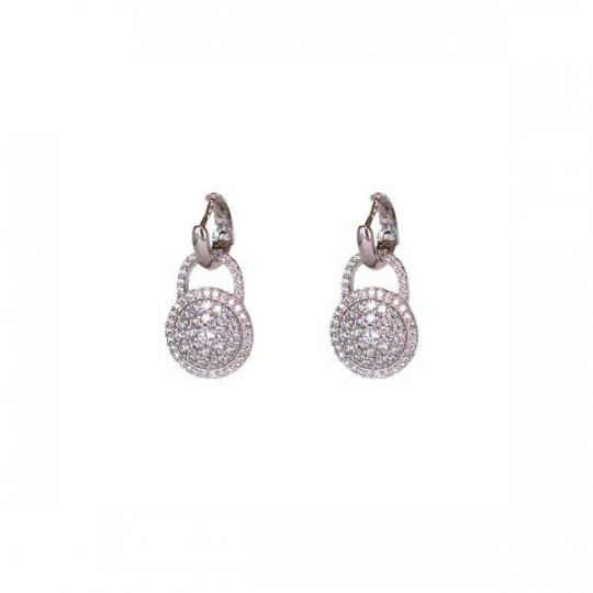 SILVER EARRINGS WITH CIRCONITES