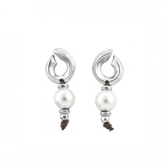 EARRINGS HALF MOON UNO DE 50 PEN0569BPLMTL0U
