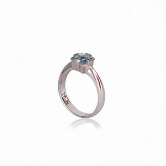 RING WHITE GOLD AND AQUAMARINE