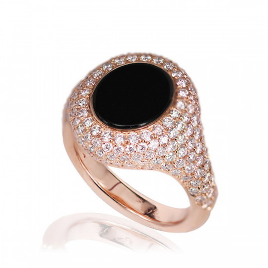 DIAMOND AND ONYX RING