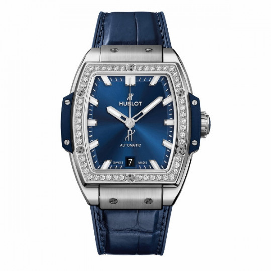 HUBLOT SPIRIT OF BIG BANG TITANIUM BLUE DIAMONDS 39MM H665.NX.7170.LR.1204