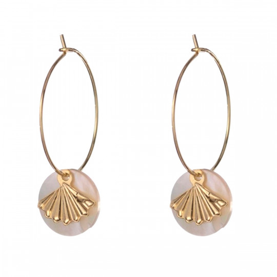 GINKO HOOP EARRINGS AL2037