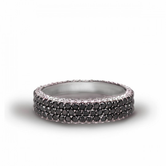 BICOLOR DIAMOND PAVÉ RING