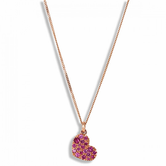 HEART OF SAPPHIRES PENDANT PINK