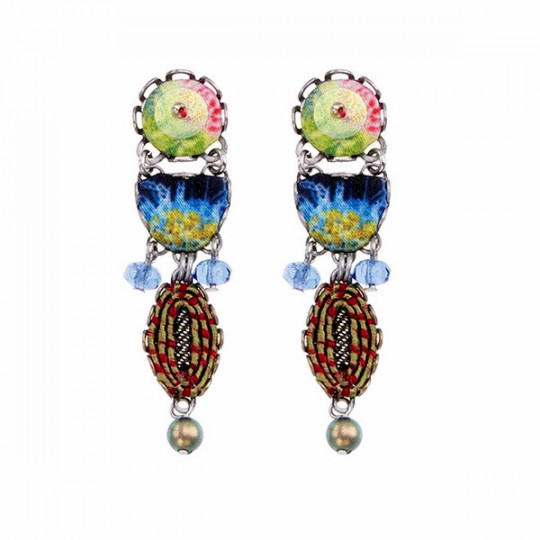 ANANDA EARRINGS, GREEN PARTY H1350
