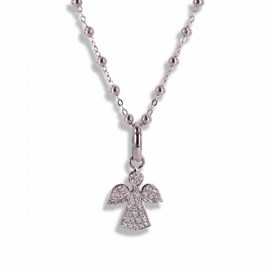 CHAIN WITH ANGEL PENDANT OF DIAMONDS