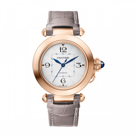 PASHA DE CARTIER WATCH WGPA0014  35 MM, PINK GOLD, TWO LEATHER STRAPS