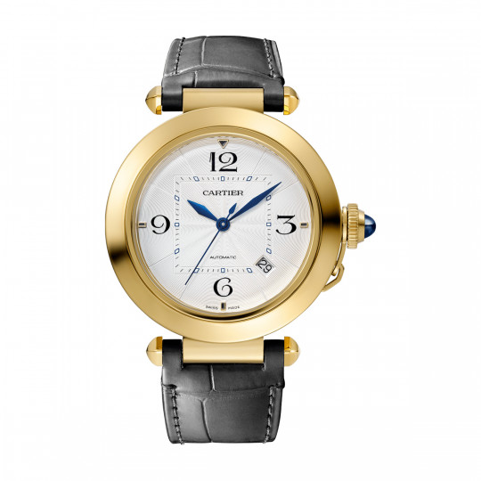 PASHA DE CARTIER WATCH WGPA0007 41 MM, YELLOW GOLD, 2 LEATHER STRAPS