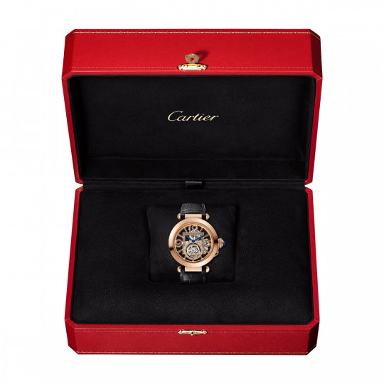 PASHA DE CARTIER WATCH WHPA0006 41 MM, ROSE GOLD, 2 LEATHER STRAPS