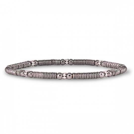 ELASTIC BRACELET WHITE GOLD AND DIAMONDS