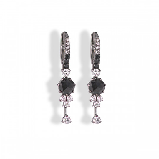 BICOLOUR DIAMOND EARRINGS