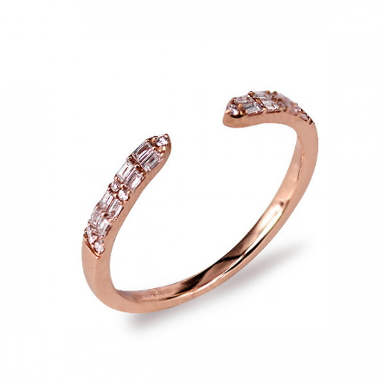 OPEN RING WITH DIAMONDS