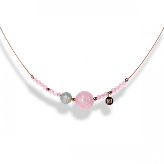 ROSE ZEN NECKLACE IN ROSE SILVER