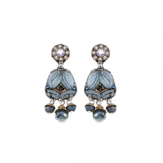 BLUE VELVET, BORNEO EARRINGS C1407