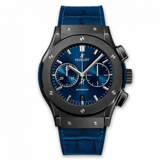 HUBLOT BIG BANG CLASSIC FUSION CERAMIC BLUE CHRONOGRAPH H521.CM.7170.LR