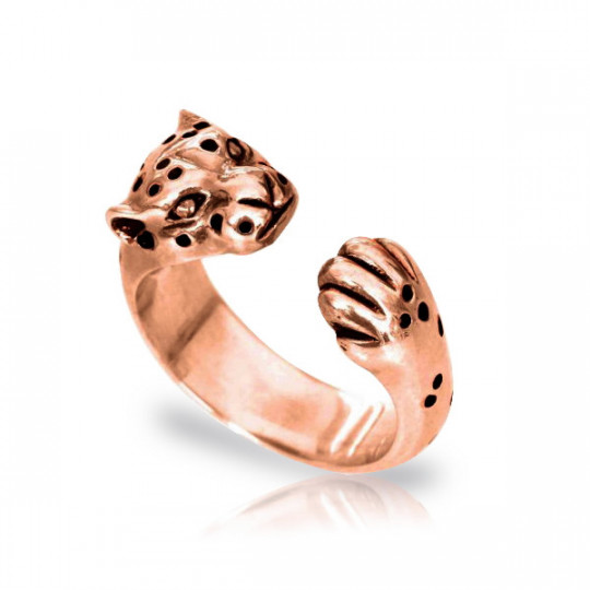 LEOPARD RING ROSE GOLD SILVER PLATED
