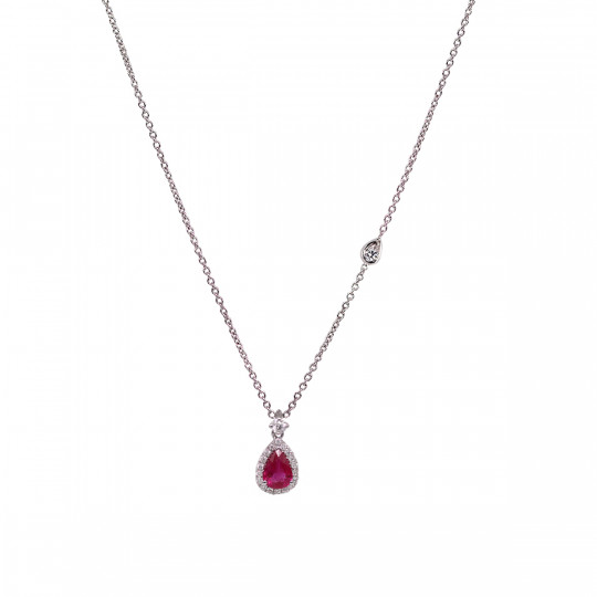TEARDROP PENDANT WITH RUBY