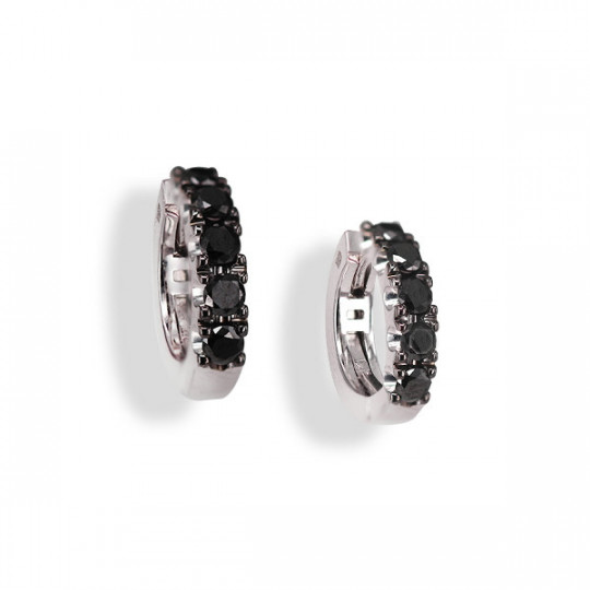 AROS MINI  DIAMANTES BLACK